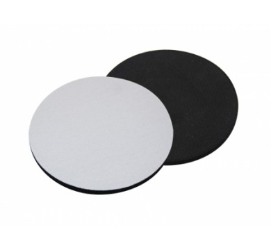 Coasters, the top is fabric and the back is rubber (circle)