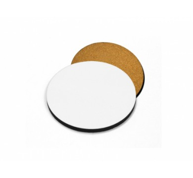 Coasters, Cork wood, Glossy Formica surface  (circle)