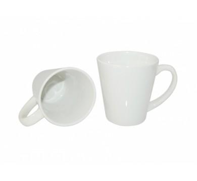 White ceramic cone glass 12 oz