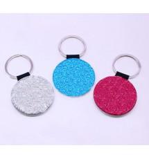 Round Glitter Keychain