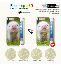 iPhone5 / 5s LED clear case with printed film