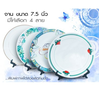 White plate with display stand