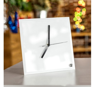 Square shape clock, with stand